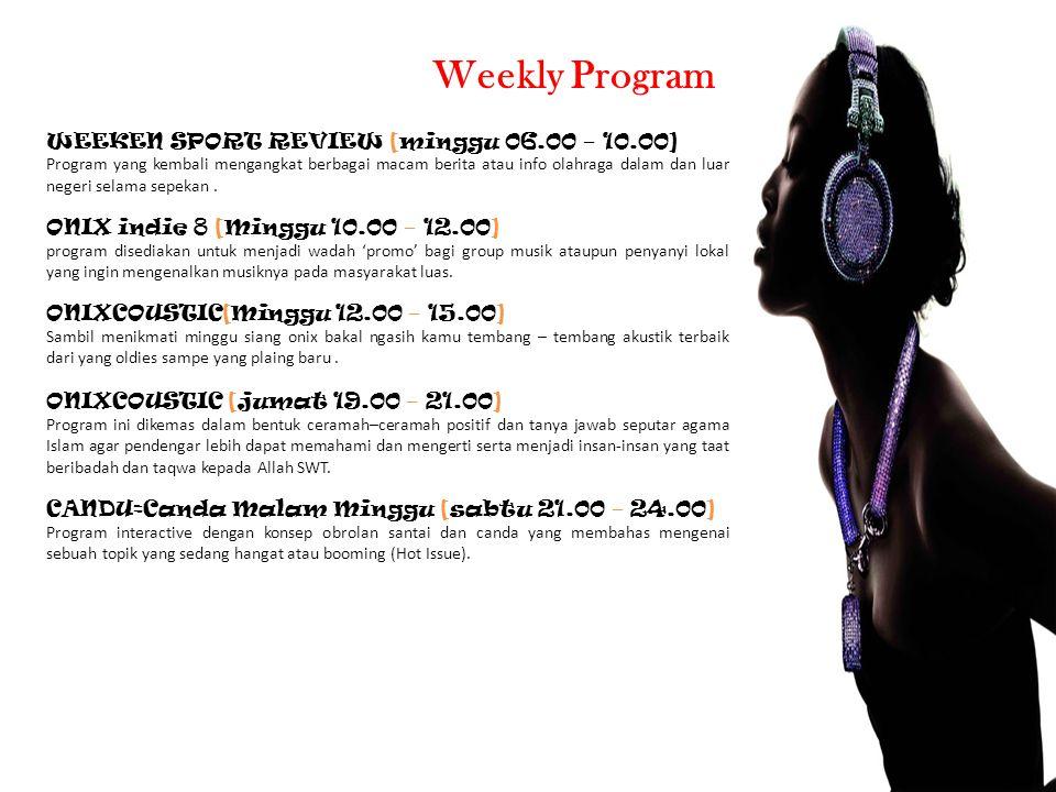Weekly Program WEEKEN SPORT REVIEW [minggu 06.00 – 10.00]